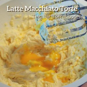Teig für Tortenboden der Latte Macchiato Torte