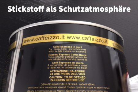 Stickstoff als Schutzatmosphäre für Izzo-Espressobohnen