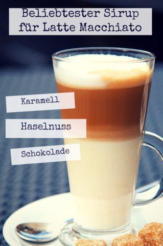 Sirup für Latte Macchiato