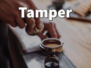 Tamper als Kaffemehl-Stampfer für Espresso