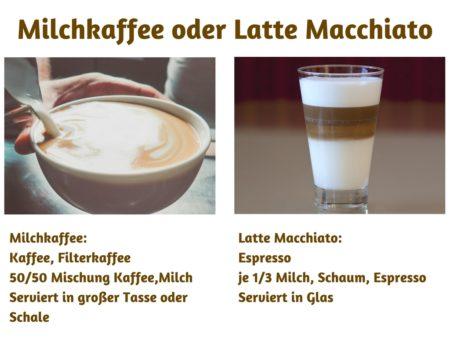 Die Unterschiede zwischen Milchkaffee und Latte Macchiato